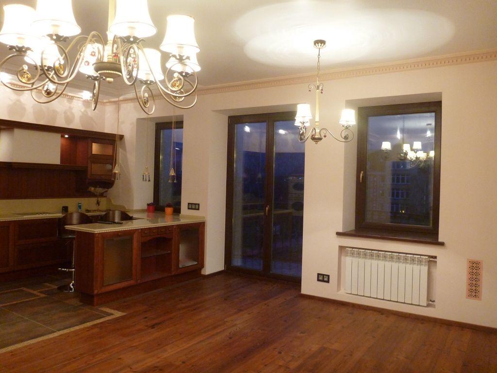 Ремонт кухни-гостиной в коттедже